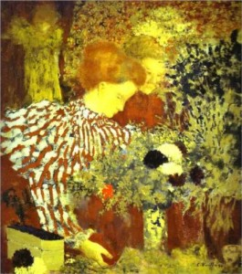 the striped blouse Edouard Vuillard 1895